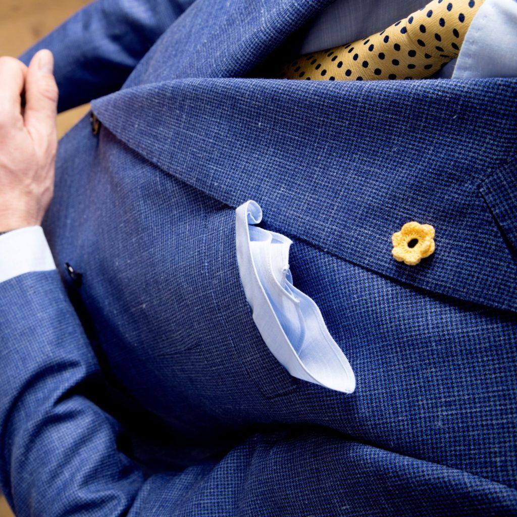 Konings blauwe blazer