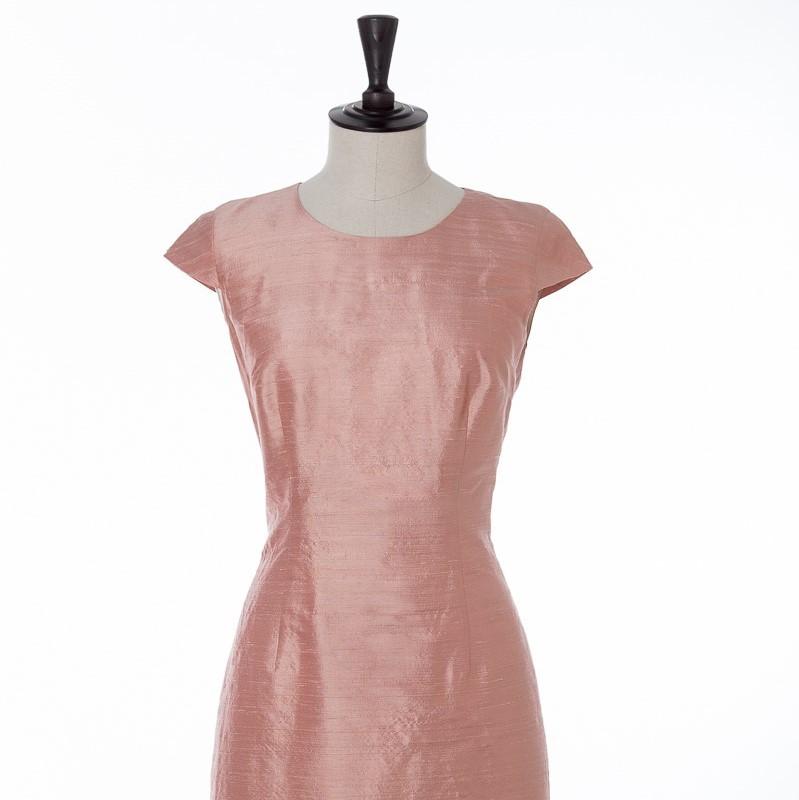 Maat jurk met ronde hals
